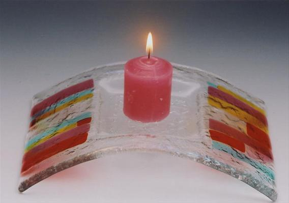 Hot Stripes Candle Bridge
