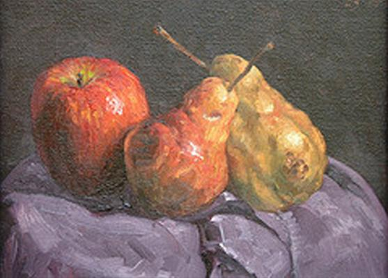 Two Pears and One Apple