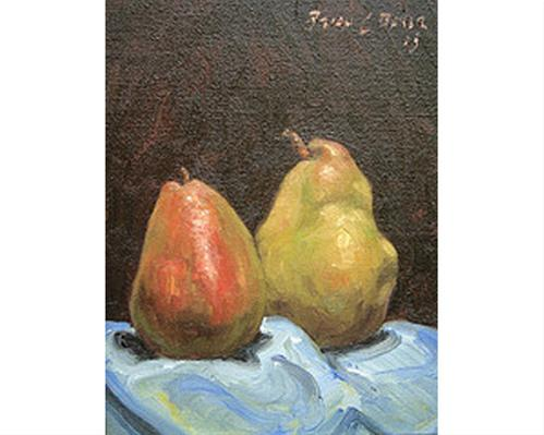 Two Upright Pears