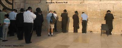 Jewish People Praying at Western Wall