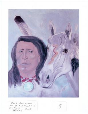 Jack Red Cloud, son of Red Cloud, and his pony