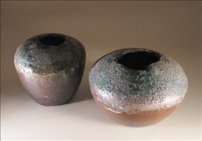 Pair of Salt-Fired Pots